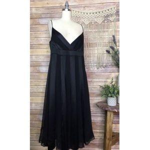 Diane Von Furstenberg Black Silk Dress Cocktail